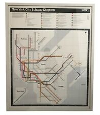 Massimo Vignelli Vintage NYC Subway Map, signed