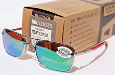 bf9f2cb151 COSTA DEL MAR Palapa 580 POLARIZED Sunglasses Palladium Green 580G NEW  279