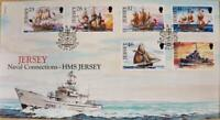 """Jersey Stamps: Jersey """"Naval Connections"""" - First Day Cover 2001"""