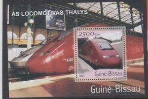 LRT104 - LOCOMOTIVE RAILROAD TRAIN STAMPS GUINEA BISSAU 2001 SPEED TRAINS MNH