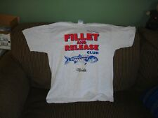 fillet And Release Club fishing T-Shirt Size M