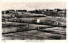 Seaford, Recreation Ground, b+w RP postcard, unposted