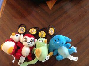 Neopets McDonald's Plush Toys 2005- petpets - Poppit, doglefox, Harris, puppyble