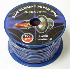 DigitNetPro HIGH CURRENT POWER WIRE 8 AWG 100' MODEL 17-2008BL-100 BRAND NEW!!