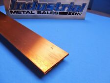 "110 Copper Flat Bar 1//2/"" x 2/"" x 24/""-Long -/>.500/"" x 2/"" Copper Bus Bar"