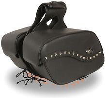 """Motorcycle Waterproof Saddle Bags Rivets Harley Bike List Below - 16 x 10 x 6"""""""