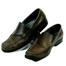 Bostonian 27107 Men's Brown Leather Slip On Casual Loafers Shoes Size 11 M
