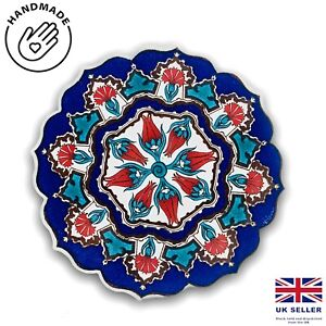 Traditional Turkish Designs Ceramic Relief Shaped 18 Cm Trivet Hot Pad Hot Plate
