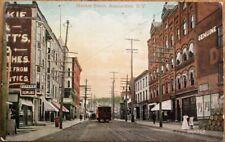 Amsterdam, NY 1910 Postcard: Market Street / Trolley / Downtown - New York
