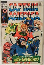 Captain America #116 (1969) Marvel Comics - 7.0 (approx.)-Red Skull!