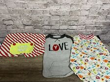 Doggie Clothing Set Of 3 Size Large Santa Helpers/Love/monsters