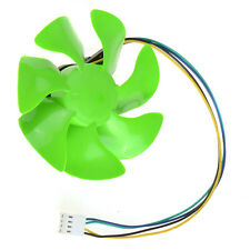 4 Pins 8.5cm Replacement Fan Blades Leaves for Desktop PC CPU Cooler Green HYSG