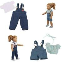 """Girl Tops + Strap Pants Dress Skirt Accessories Suits For 18 """"Doll Dress Clothes"""