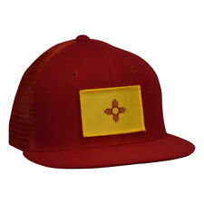 9578f0852b8 New Mexico Trucker Hat - Red Snapback with NM Flag