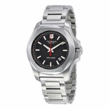 Men's Victorinox Swiss Army I.N.O.X. Black Dial Swiss Made Quartz Watch 241723.1