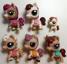 ✨Littlest Pet Shop Lot✨ 5 RARE Gorgeous Saddled Horses & VHTF Baby Foal