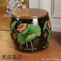 "H 14"" Tibet Korean Chinese Buddhist Temple Cowhide CowSkin Drum Painted #5229"