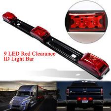 Truck Trailer Pickup Rear Brake Lamp 9 LED Red Clearance ID Light Bar Waterproof