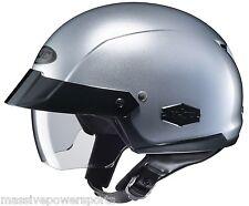 HJC IS-Cruiser Motorcycle Half Helmet Silver XL Extra Large Sunshield DOT
