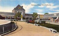 Philadelphia Pennsylvania 1940-50s Postcard Carnivora house Philadelphia ZOO