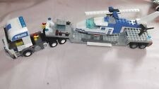 lego police truck plus helicopter
