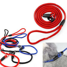 Strap Strong Rope Pet Dog Puppy Slip Training Leash Walking Lead Collar Blue/Red