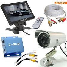 kit videosorveglianza con Dvr 1canale Telecamera infrarossi cavo bnc monitor lcd