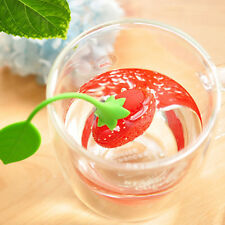 1Pc Silicone Strawberry Loose Tea Strainer Herbal Spice Infuser Filter Diffuser
