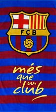XL Neuf Barcelone Club Football Serviette Bain Plage Garçons Enfants Fans Cadeau