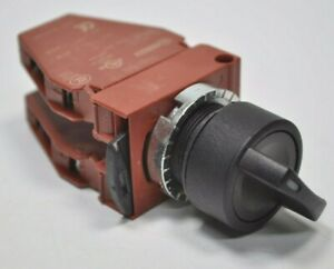 General Electric GE 3-Position Selector Switch w/ 2 P9B11VN Contact Blocks