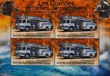 1985 Pierce Arrow 75' Quint Bomberos Escalera de rescate hoja de sellos de vehículos &