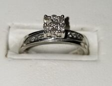 Kenneth David pave diamond sterling silver pure love pre engagement flower Ring