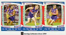 2011 AFL Teamcoach Trading Cards Prize Card Team Set Western Bulldogs (3)