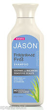 Jason Organic Fragrance Free SHAMPOO Soothes Sensitive Scalps 473ml Aloe Vera