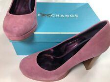 Charles David sz 9.5B heels!  Light purple suede, Wood heel. Excellent condition