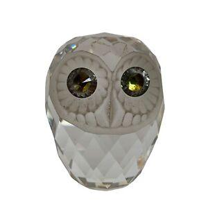 Swarovski Crystal Glass Owl As Found 6cm