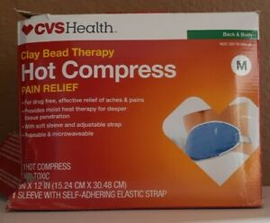 CVS Health Clay bead Therapy Hot Compress Pain Relief back & body M DAMAGED OPEN