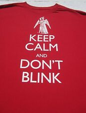 DOCTOR WHO keep calm and don't blink 2XL T-SHIRT xxl