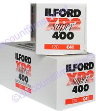 2 x ILFORD XP2 400 120 ROLL C.41 PROCESS CHEAP B&W CAMERA FILM by 1st CLASS POST
