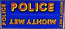 Police 80's Kmet Mighty Met La Radio Concert Bumper Promo Stickers 94.7 Sting