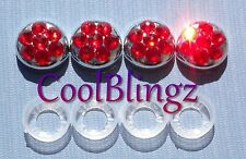 RED Crystal Bling Screw Caps for License Plate Frame made w/ Swarovski Elements
