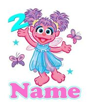 IRON TRANSFER BIRTHDAY ABBY CADABBY PERSONALISED AGE any number