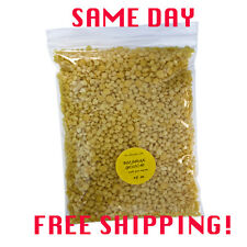 BEESWAX YELLOW BEES WAX ORGANIC PASTILLES  BEARDS, PURE  2 oz - 8 lb Free S&H!