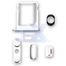White Button & Sim Tray Set for iPhone 4/4G GSM ATT Volume/Power/Silent Switch