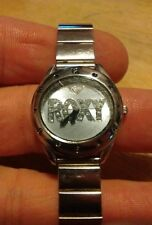 Vintage Roxy All Stainless Steel Ladies watch, running w/new Battery NR H