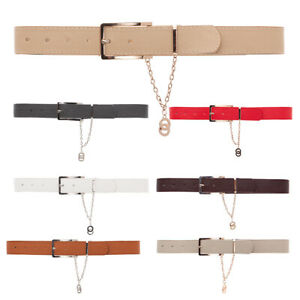 Thin Belt with Buckle & Beautiful Chain Casual Elegant Classic Hipsband FP32