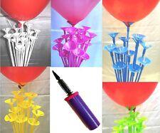 Coloured balloon sticks, one piece Air pump, napkins & balloons wedding birthday