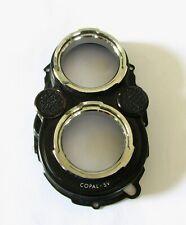 Yashica Mat 124G Camera's Front Panel W/Filter Mounts, Shutter & Aperture Dials