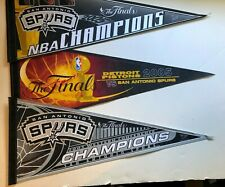 SAN ANTONIO SPURS 2005 NBA BASKETBALL CHAMPIONS VINTAGE PENNANTS new mint