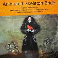"Life Size Animated Skeleton Bride of Vampire 63"" Halloween Prop"